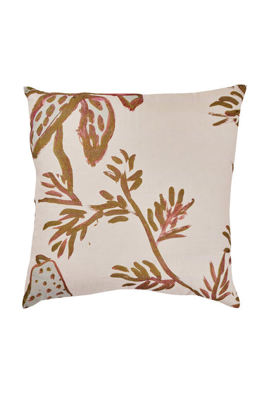 BONNIE AND NEIL SPOTTED TIGERLILY CUSHION OLIVE 60CM