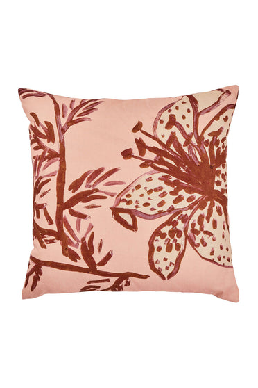 BONNIE AND NEIL SPOTTED TIGERLILY CUSHION PEACH 60CM