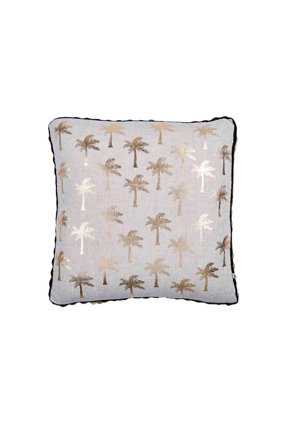 BONNIE AND NEIL GOLD TINY PALMS CUSHION 50CM