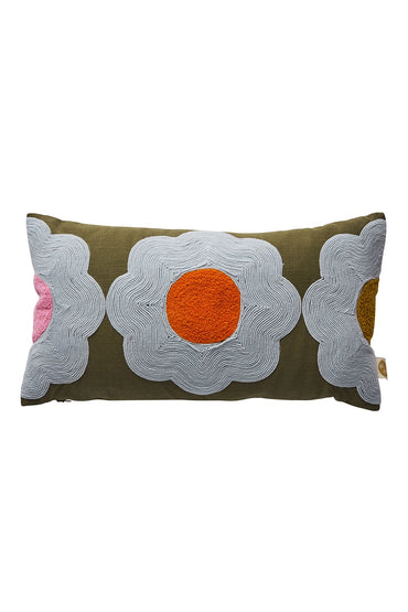 SAGE x CLARE MYRTLE SOUTACHE CUSHION