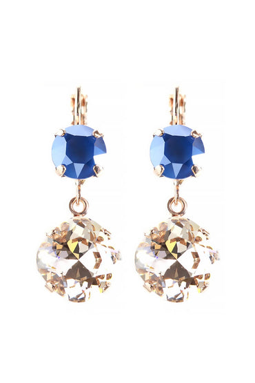 "MARIANA ROSE GOLD ""MONTANA BLUE EARRINGS"""
