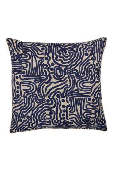 BONNIE & NEIL FC208 SWELL GARDEN BLUE 60cm x 60cm CUSHION