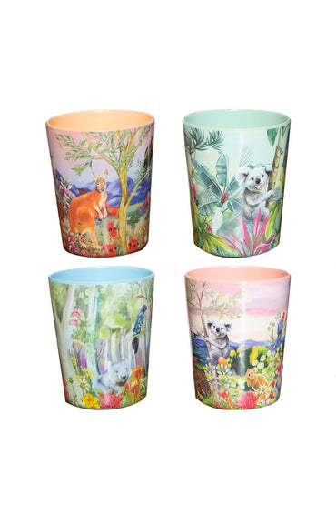 LA LA LAND NATURE DWELLINGS MELAMINE CUP SET (4)