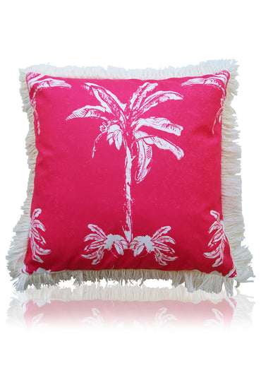 LIBBY WATKINS BANANA BUNGALOW CUSHION 45CM PINK