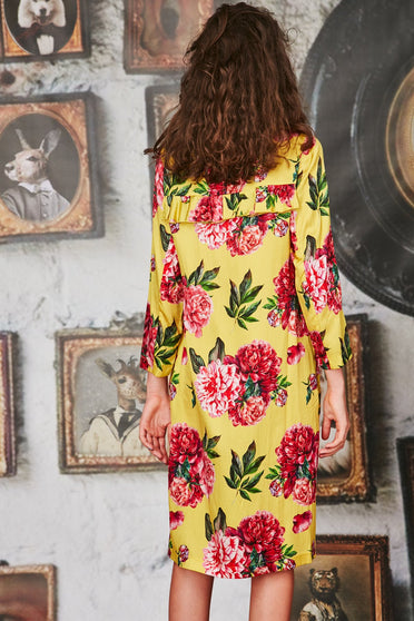 CURATE IN A RUFF DRESS - YELLOW