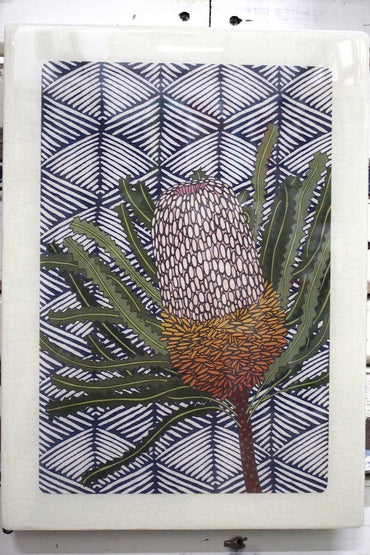 LOST & FOUND XL WOODBLOCK - BANKSIA HOOKERIANA