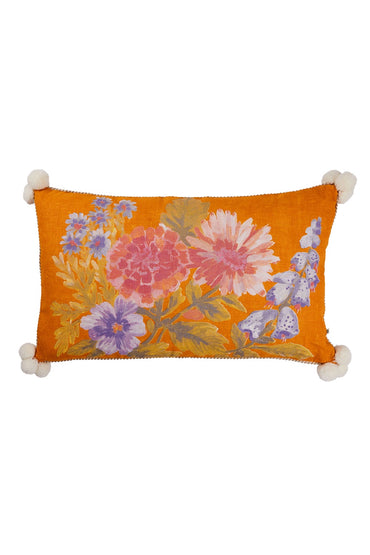 BONNIE AND NEIL FOXGLOVE CUSHION GOLDEN 75 X 45CM