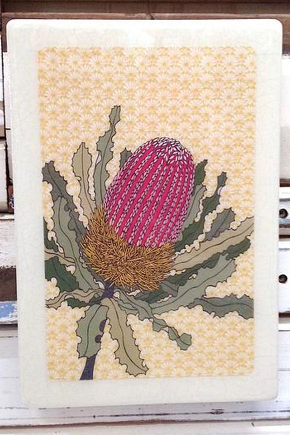 LOST & FOUND ART CO MAXI WOODBLOCK BANKSIA MENZIESII