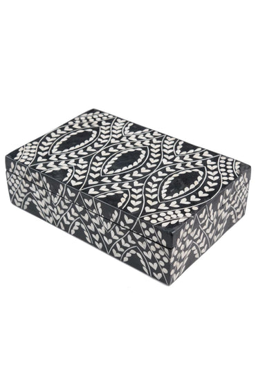 RUBY STAR TRADERS BONE INLAY BOX BLACK/NATURAL