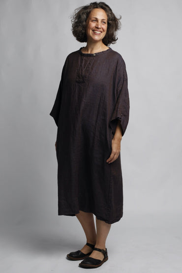 MUSE FINA LINEN DRESS SMOKE