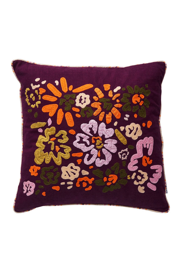 SAGE x CLARE SALLY EMBROIDERED CUSHION