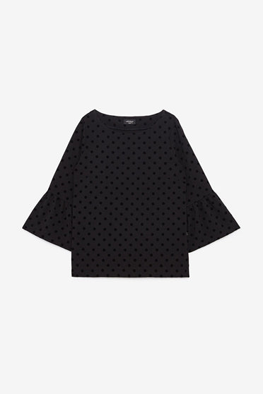 ottodame-EC4144-GTO-black-polka-dot-top