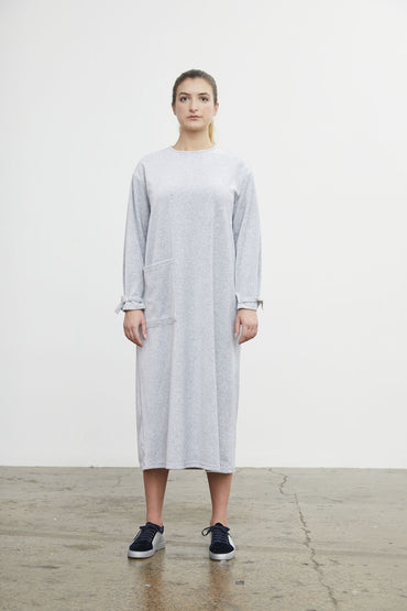 BARRY MADE ROKEBY VELVET DRESS GREY