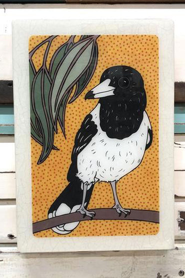 LOST & FOUND ART CO BUTCHER BIRD MAXI WOODBLOCK