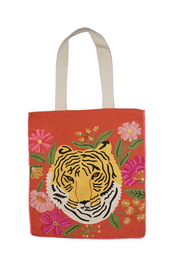 RUBY STAR TRADERS TIGER PORTRAIT BAG ORANGE