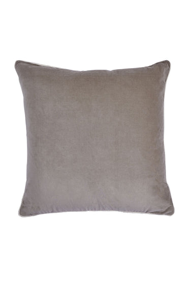 BONNIE AND NEIL VELVET CUSHION BONE 60 X 60CM