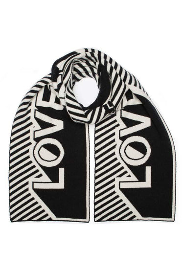 GREEN THOMAS LOVE BLANKET SCARF BLACK & WHITE