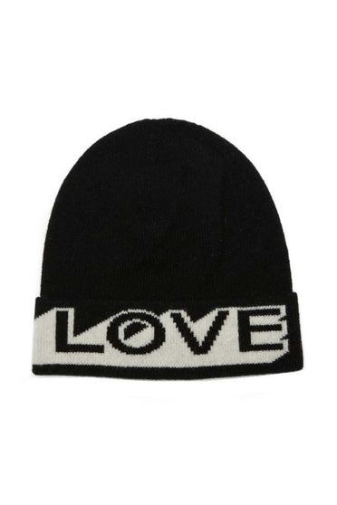 GREEN THOMAS LOVE BEANIE BLACK & WHITE