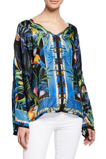 JOHNNY WAS JUNGLE BLOUSE