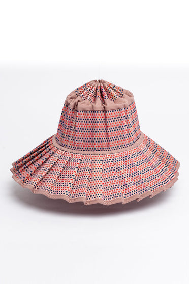 LORNA MURRAY MEDIUM WAX FLOWER CAPRI HAT DUSTY PINK