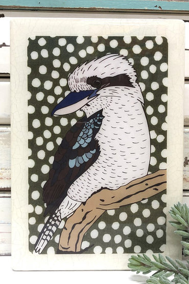 LOST & FOUND ART CO KOOKABURRA MAXI WOODBLOCK