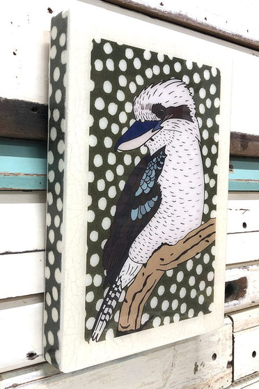 LOST & FOUND  ART CO MAXI WOODBLOCK KOOKABURRA