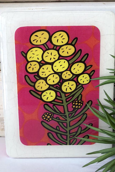 LOST & FOUND MINI WOODBLOCK - WATTLE