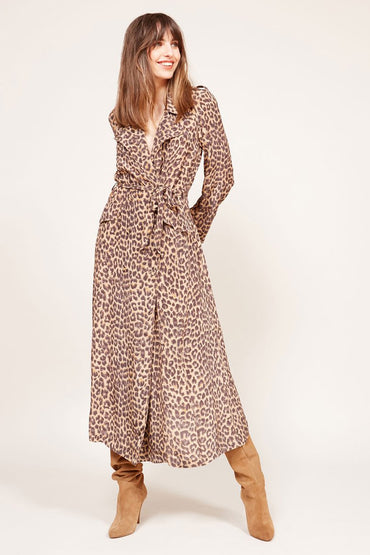 MES DEMOISELLES STING PANTHER COAT DRESS