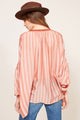 MES DEMOISELLES SUNLIGHT ROSE STRIPE BLOUSE