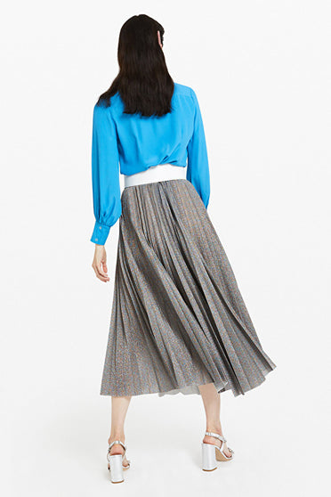 ottodame-DN5749-metallic-pleated-skirt