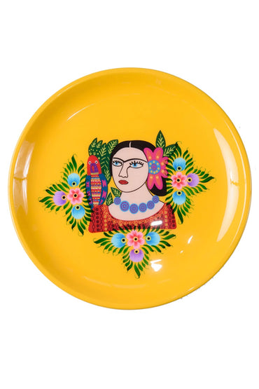RUBY STAR TRADER FRIDA SINGLE PARROT YELLOW MULTICOLOUR TRAY