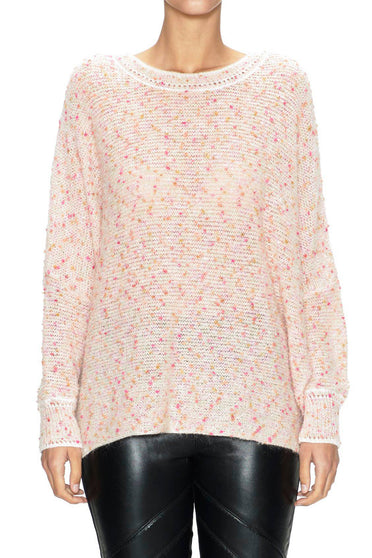 SABATINI - CONFETTI FANCY KNIT SWEATER PINK