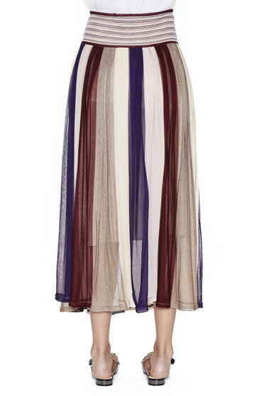 SABATINI KNIT PLEAT SKIRT PURPLE