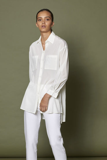 SABATINI - POCKET SIDE SHIRT IVORY