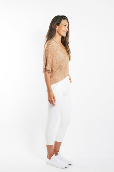 SABATINI CROP KNITTED TOP ROSE GOLD