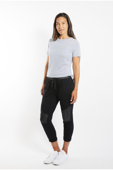 SABATINI SATIN PANEL PANT BLACK