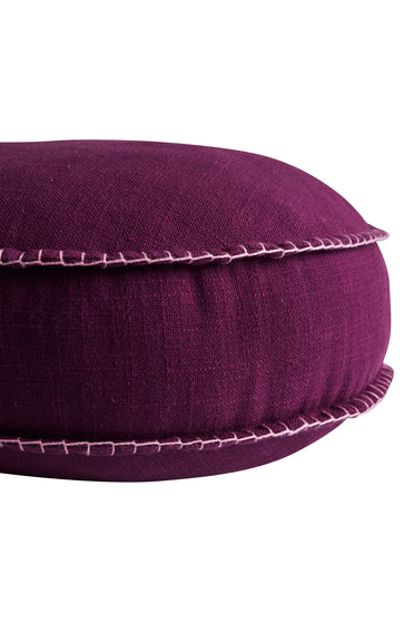 SAGE x CLARE RYLIE ROUND CUSHION BOYSENBERRY