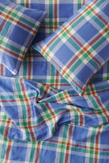 blue-check-linen-bedsheet