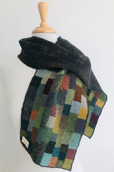 "SOPHIE DIGARD ""STRANGERS TIDE"" WOOL SCARF 25X145CM"