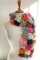 SOPHIE DIGARD SPRING BREAK CROCHET SCARF GREY 15x150CM