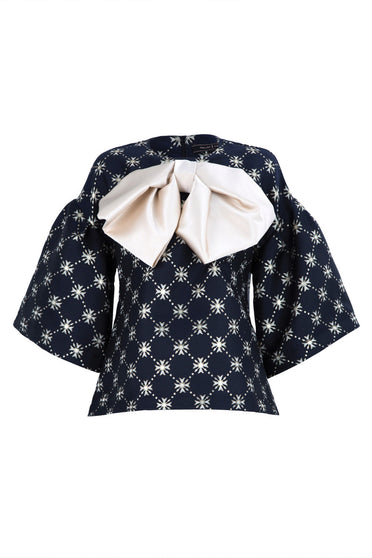 TRELISE COOPER BIG BOW PEEP TOP