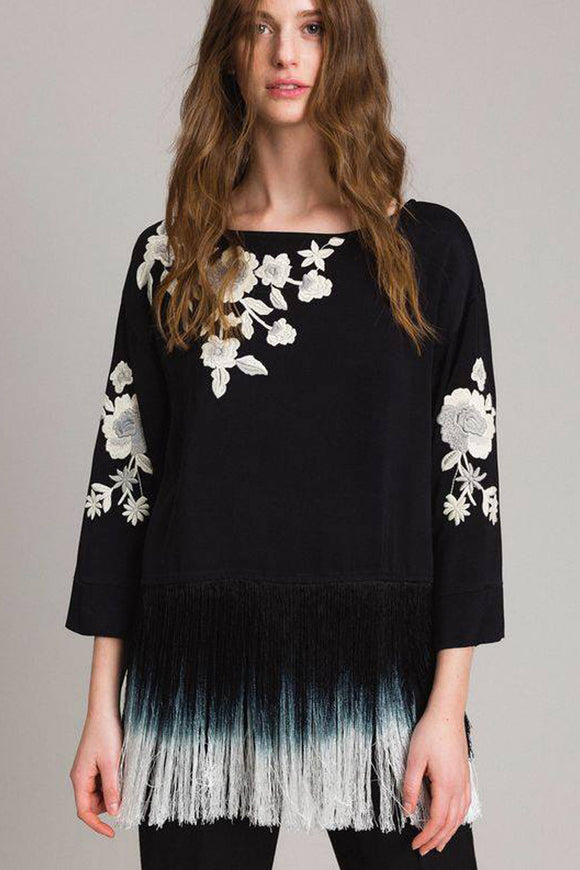 TWINSET BLACK SPRING BLOUSE