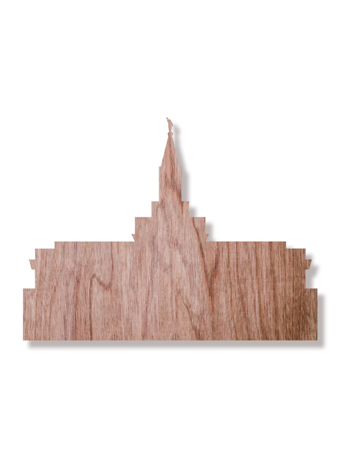 LDS Bountiful Temple Wooden Decor Walnut