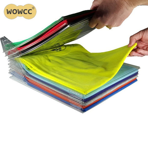 INCREDIBLE INTERLOCKING DIVIDERS - FINALLY, KEEP STACKS OF CLOTHING ORGANIZED!