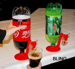 INCREDIBLE BEVERAGE DISPENSER - Keeps Carbonated Drinks From Going Flat!