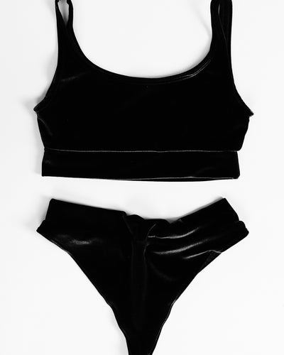LEISURE KINI SET // BLACK