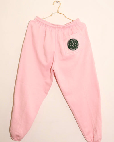 LAINA RAUMA COUNTRY CLUB SWEATPANTS // PINK / FOREST GREEN