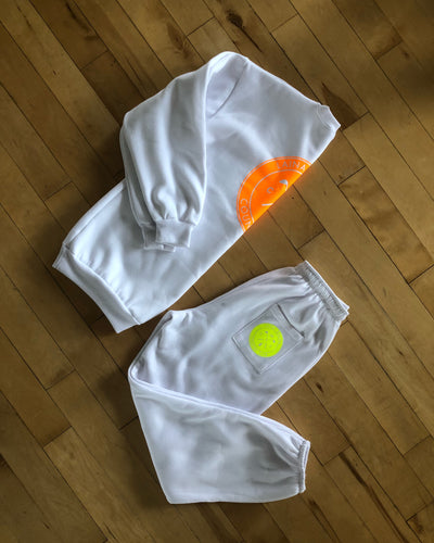 LRCC NEON SWEATPANTS // WHITE