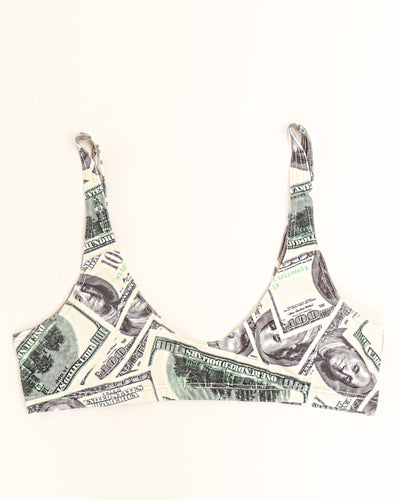 "TWO SCOOPS ""SPORT"" BIKINI BRA // DOLLAR BILLS"