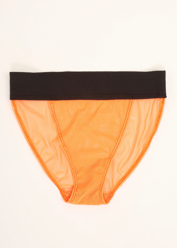 "PG13 ""BLACK BELT"" PANTY // NEON ORANGE"